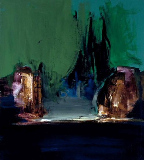 Isla de los muertos_1985_acrílico sobre lienzo_200 por 120